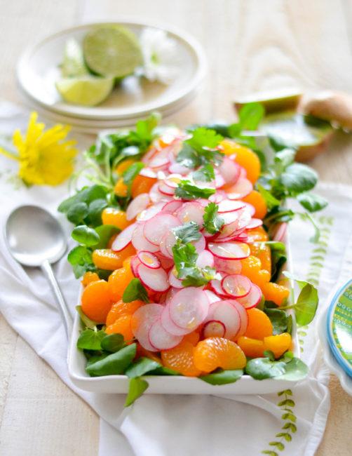 Radish and Mandarin Orange Salad with Zesty Lime Vinaigrette // Karista's Kitchen