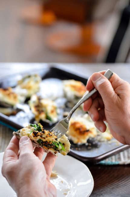 Baked Oysters Mornay // Karista's Kitchen