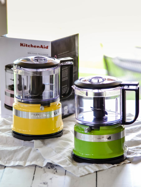 Yellow Kitchen Aid Mini Food Processor for our Spring Giveaway at Karista's Kitchen