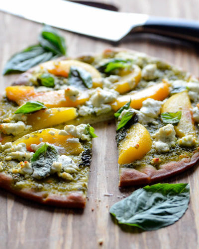 Apricot, Basil and Goat Cheese Pizza from Karista's Kitchen
