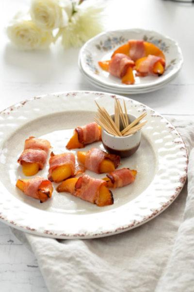 Bacon Wrapped Peaches // Karista's Kitchen