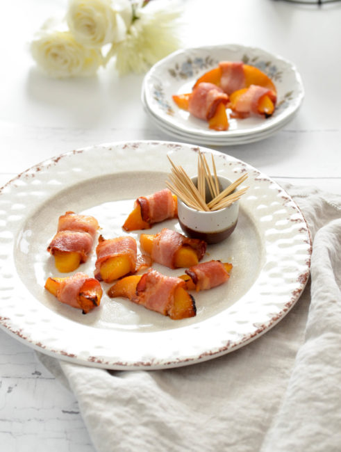 Bacon Wrapped Peaches // Karista's Kitchen