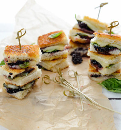 Grilled Blackberry, Basil and Havarti Mini Sandwiches // Karista's Kitchen