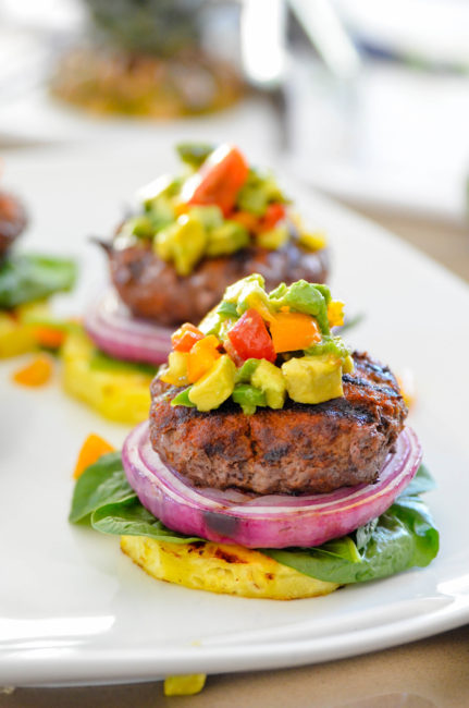 Pineapple Burger Stacks from Albertsons and Safeway O Organics brand of products
