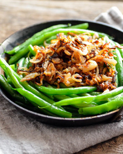 Skillet Green Beans with Crispy Shallots // Karista's Kitchen
