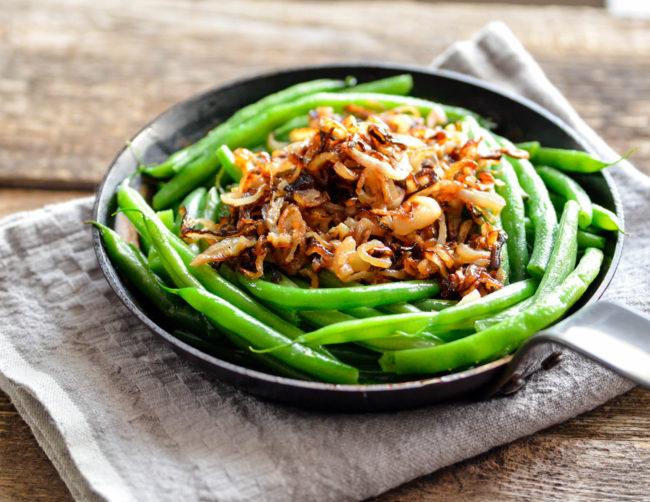 Skillet Green Beans with Crispy Shallots // Karista's Kitchen