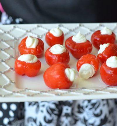 Goat Cheese Stuffed Peppadew Peppers