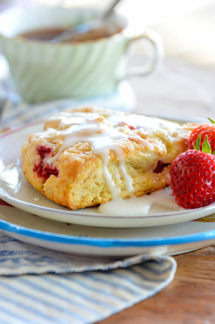 Strawberry Shortcake Scones from Alaska From Scratch Cookbook