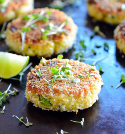 Curried Halibut Cakes with Apricot Ginger Dipping Sauce