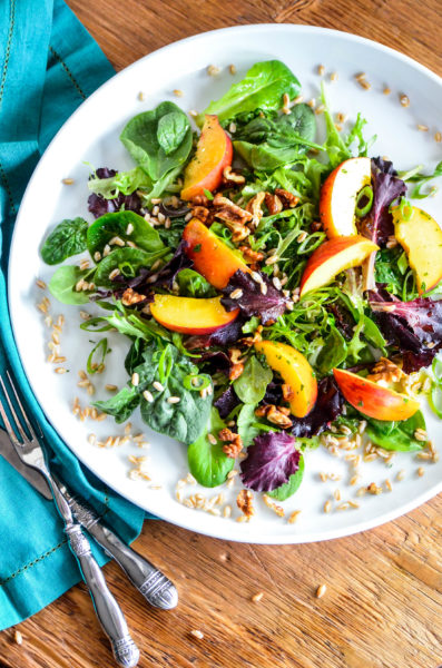 Farro and Summer Peach Salad & Four Things Friday