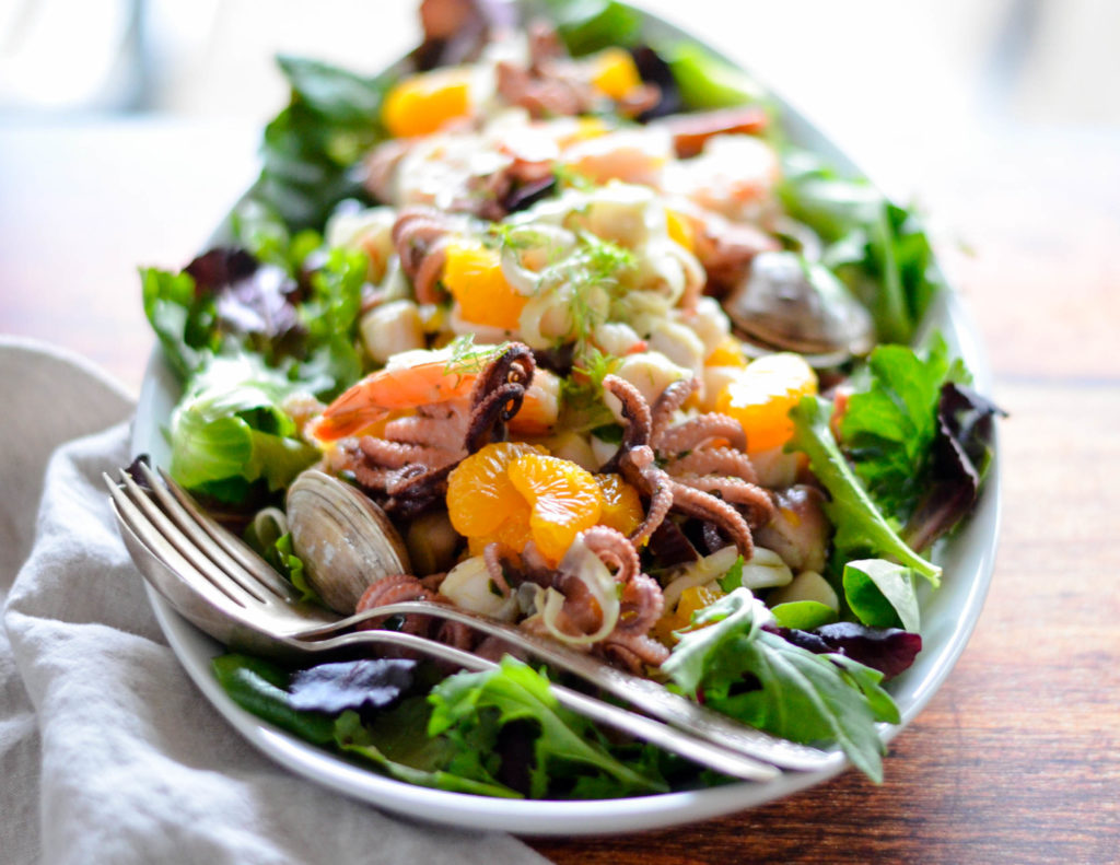 Italian Seafood Salad with Mandarin Oranges & Fennel