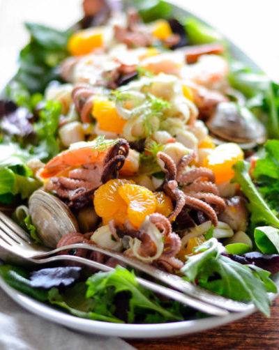 Italian Seafood Salad with Mandarin Oranges & Fennel