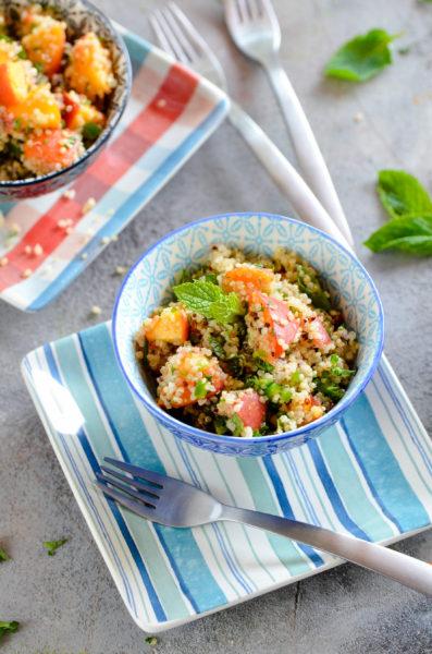 Peach & Jalapeno Quinoa Salad