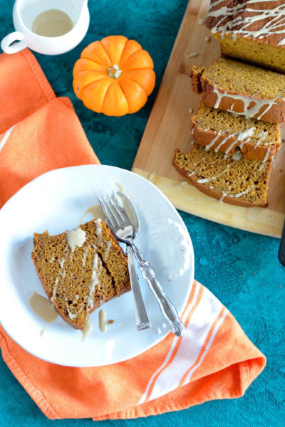 Pumpkin Gingerbread with Maple Icing