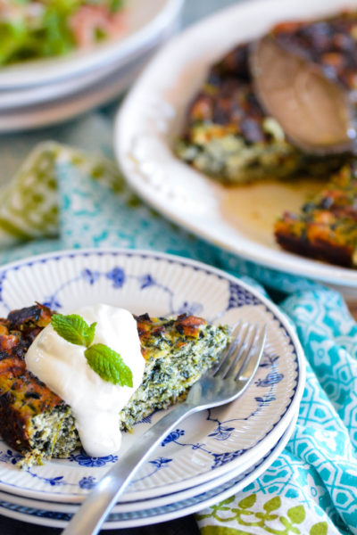 Spring Greens and Ricotta Torte
