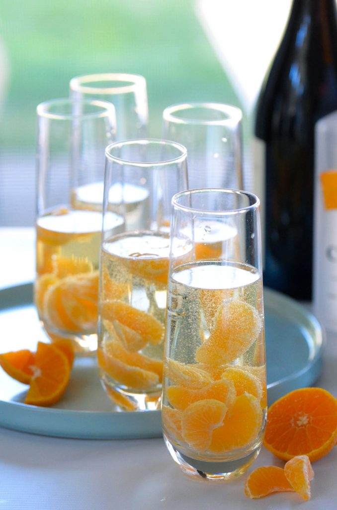 Mandarins in Prosecco