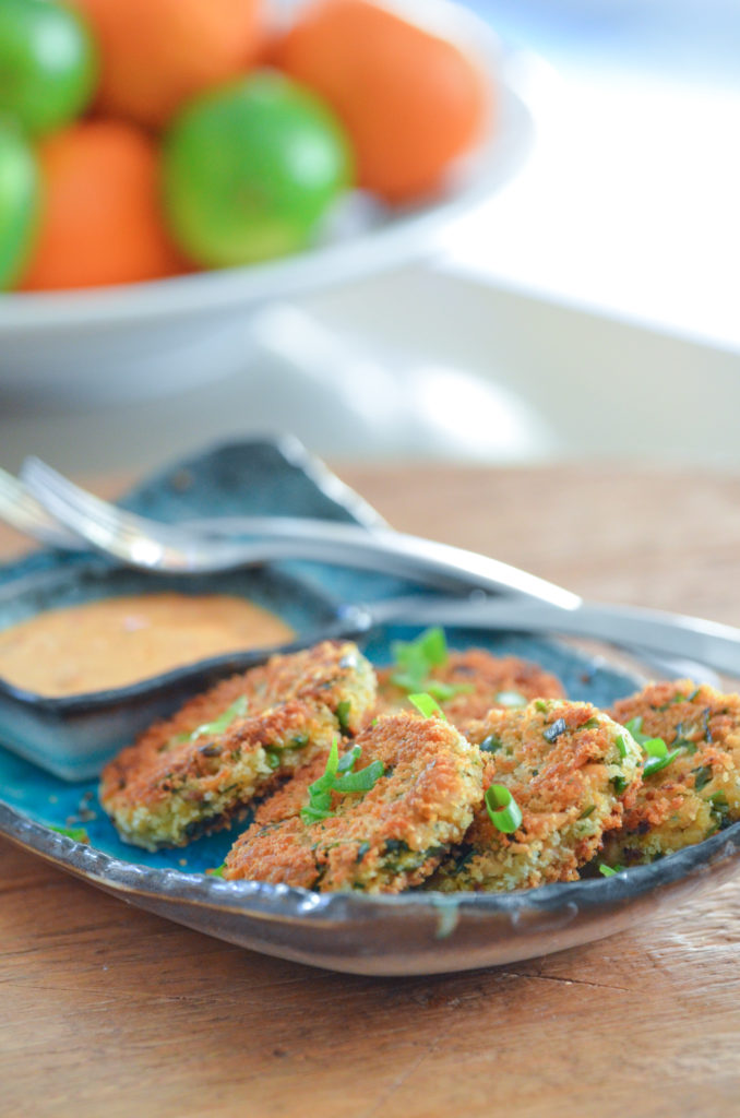 Canned Tuna Cakes with Chipotle Lime Dipping Sauce