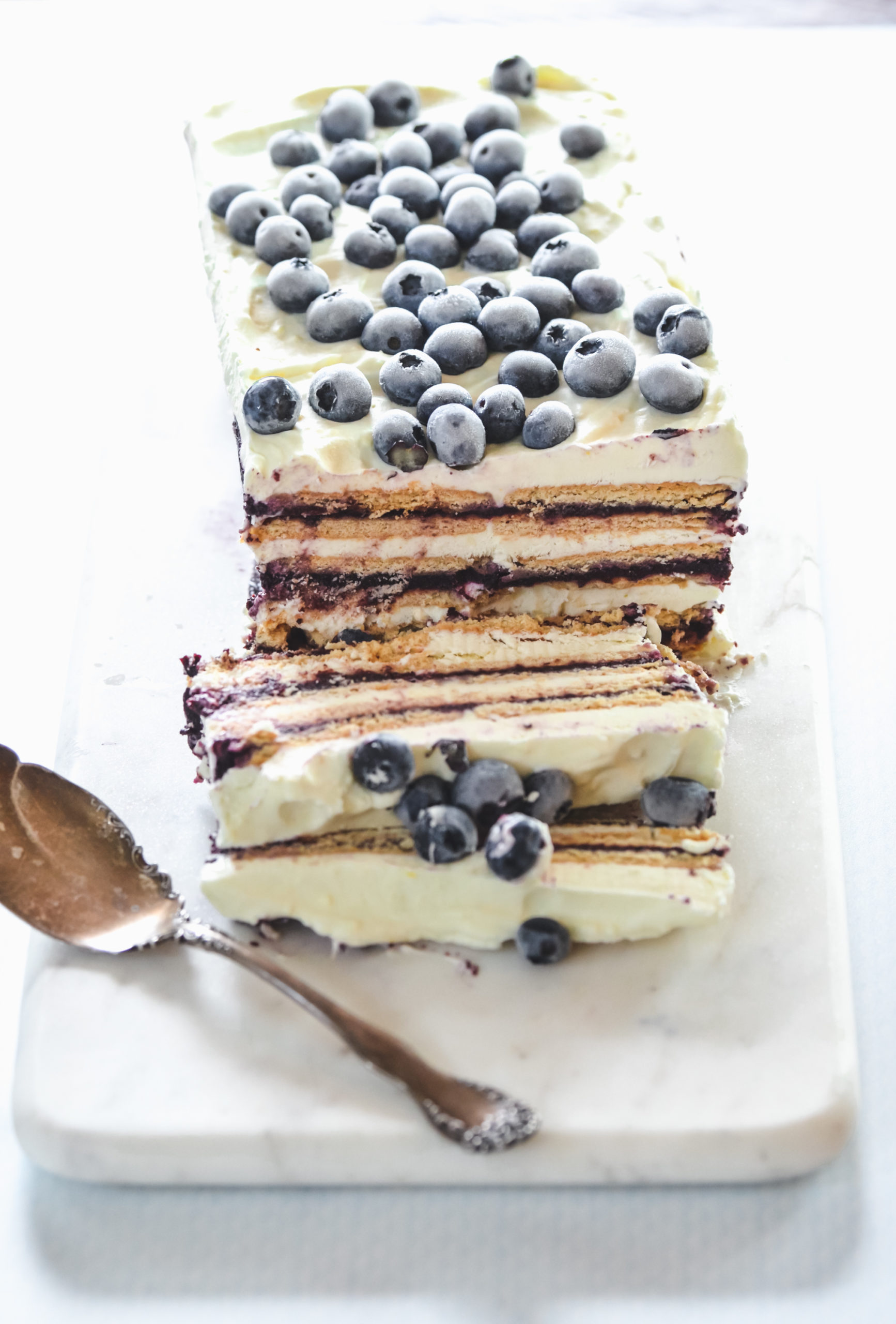 Blueberry Butter Ice Box Cake