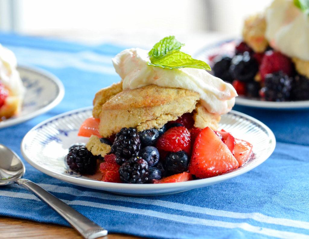 Summer Berry Shortcake with Vanilla Bean Whipped Cream
