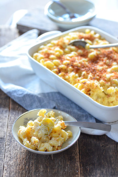 Spicy Three Cheese Macaroni and Cheese