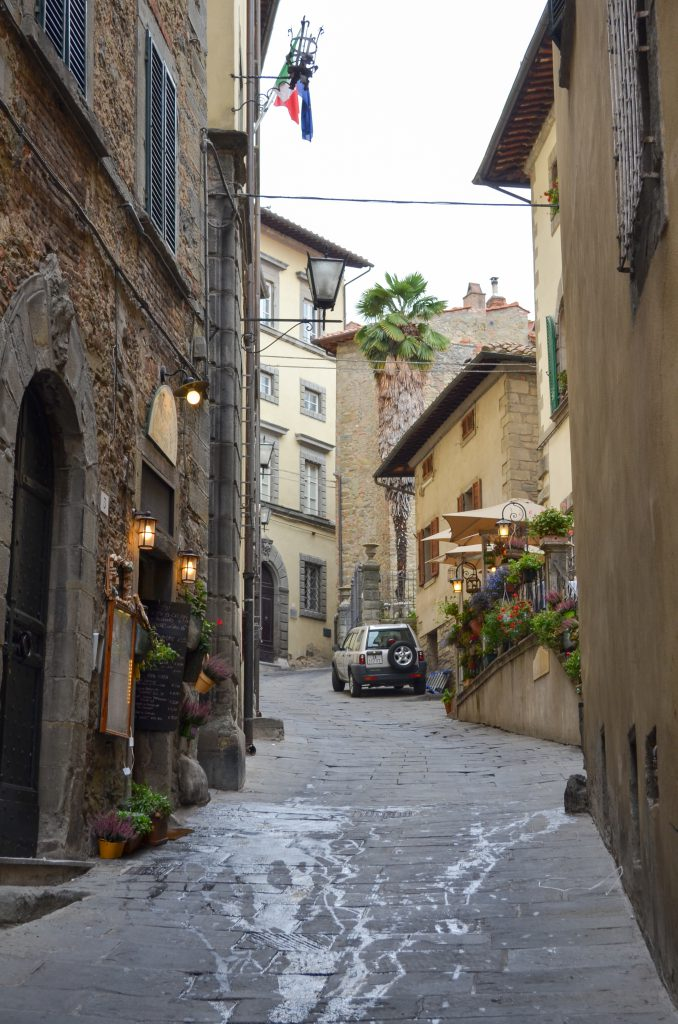 A street in Cortona, Italy for the Linguine with Cabbage, Wild Mushrooms and Shaved Truffle post.